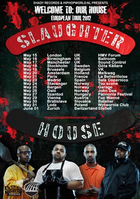 Группа Slaughterhouse объявляет о туре по Европе