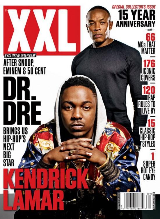 Kendrick Lamar и Dr. Dre на обложке журнала XXL