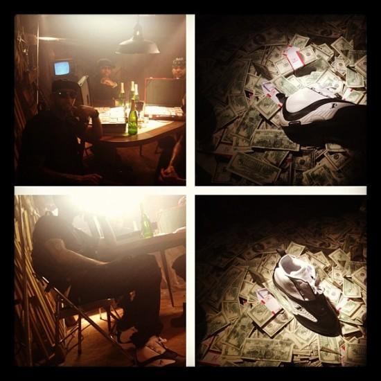 Фотографии со съёмок клипа группы Slaughterhouse и Swizz Beatz «Throw It Away»