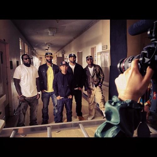 Фотографии со съёмок клипа группы Slaughterhouse — «Goodbye»
