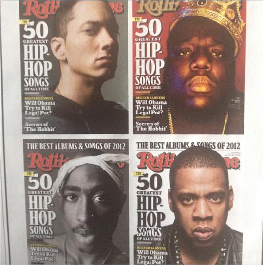 Eminem, B.I.G., Tupac, & Jay-Z на обложке журнала Rolling Stone