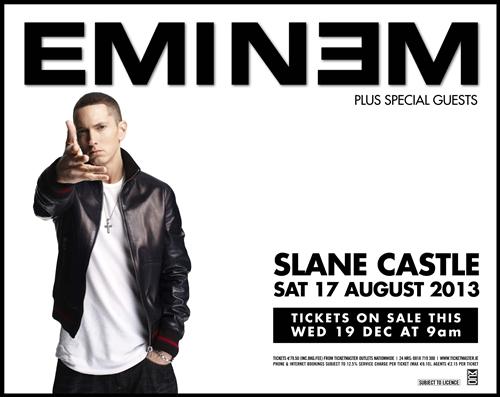 Eminem Slane Castle Ireland 2013