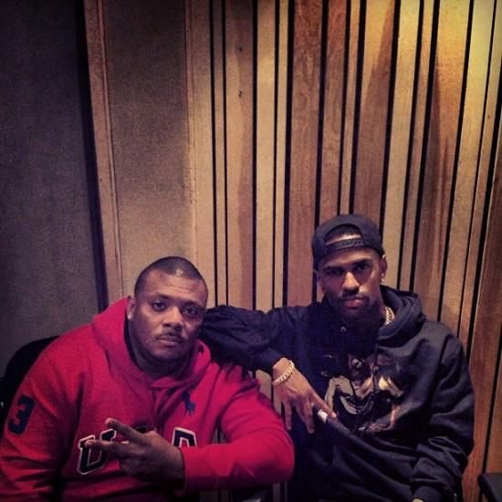 Mr. Porter and Big Sean in studio 26.04.2013