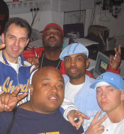 Eminem, Proof, D12 and Tim Westwood in 2004 2