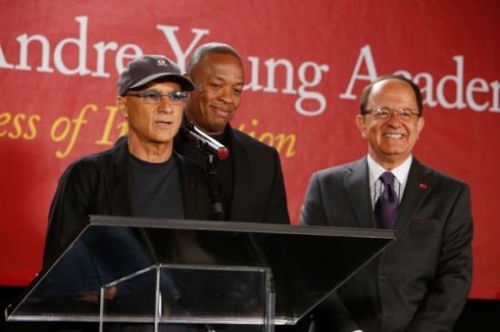 Jimmy Iovine, Dr. Dre, USC President C.L. Max Nikias