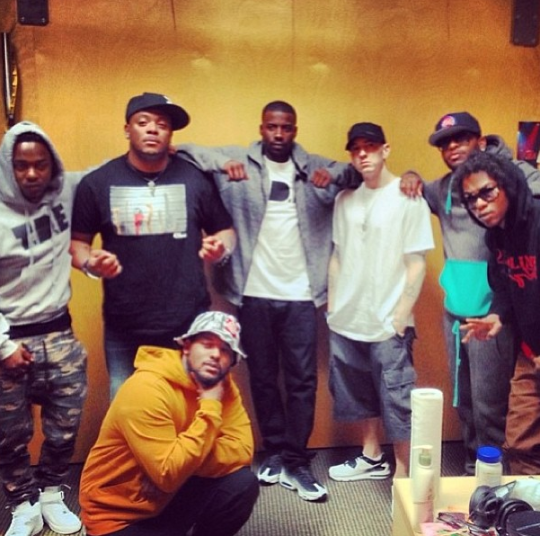 Kendrick Lamar, ScHoolboy Q, Ab-Soul, Jay Rock in Detroit with Eminem, Royce Da 5'9″ and Mr. Porter - 2013-06-05-at-8-19-04-pm