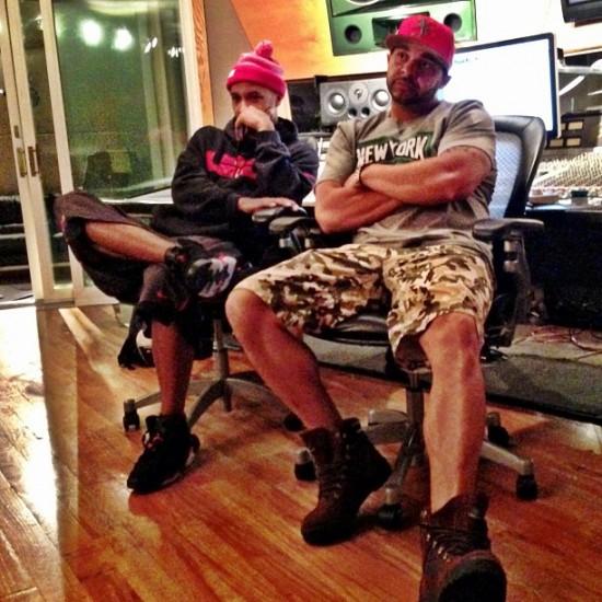 Joell Ortiz и Joe Budden впечатлены новым битом Just Blaze - Just Blaze beat in the bg