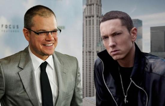 Matt Damon and Eminem
