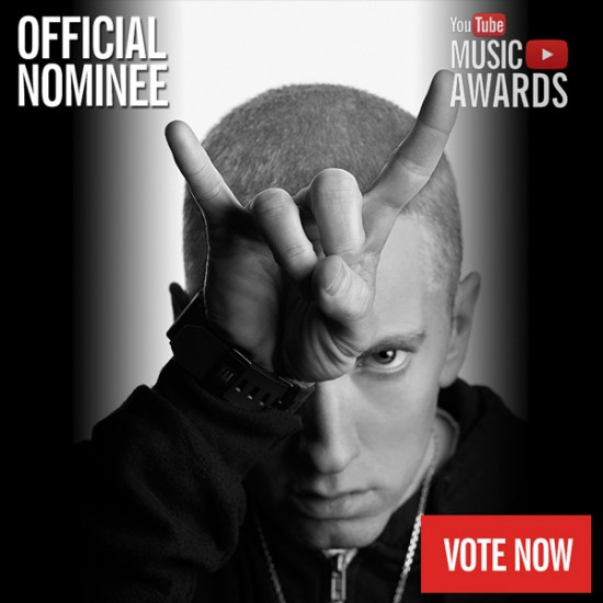 2013.10.24 - Eminem is nominated for Artist of the Year in the first ever YouTube Music Awards