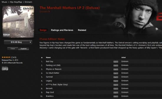 2013.11.05 - Eminem MMLP2 Release