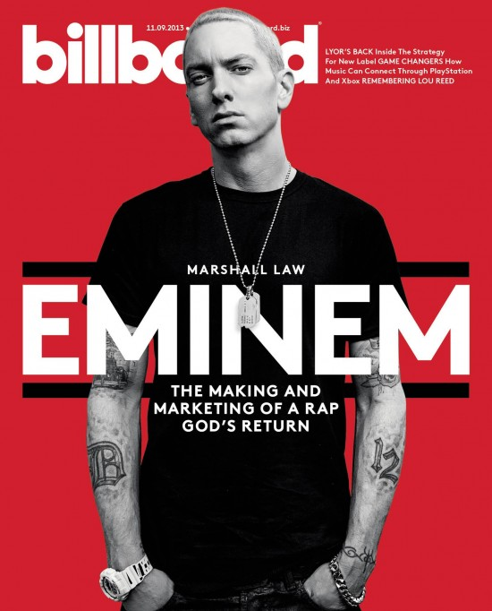 2013.11.07 - Eminem Billboard Back issue Volume 125 Issue 43 2013