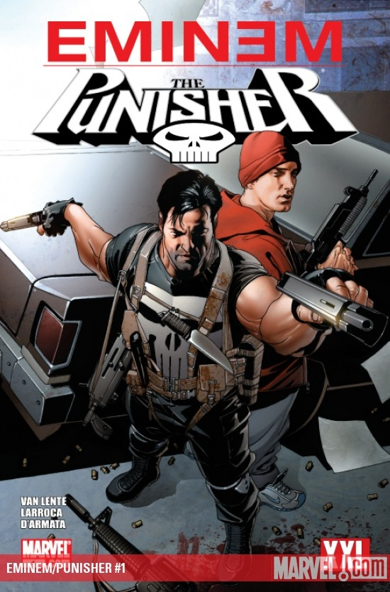 2013.11.07 - Eminem and Punisher Marvel Comics