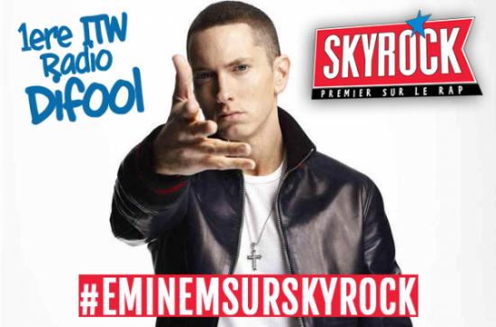 2013.11.12 - 12 ноября 2013 года Eminem дал интервью для французской радиостанции Skyrock