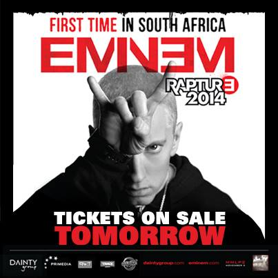 Eminem - South Africa Tour | Rapture 2014.