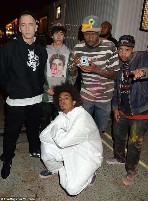 Eminem, Tyler the Creator, Earl sweatshirt, Taco bennett, Odd future