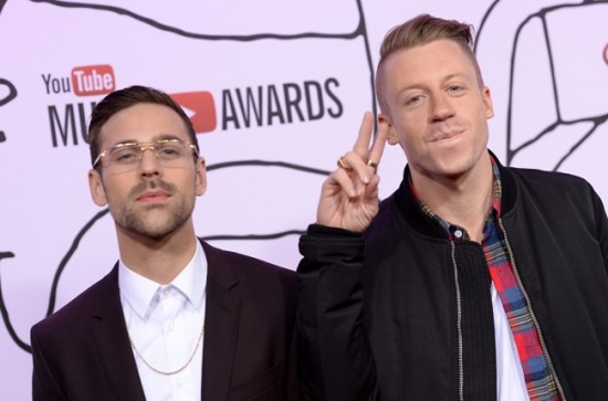 Ryan Lewis & Macklemore attend the 2013 YouTube Music Awards, November 3, 2013 in New York City.