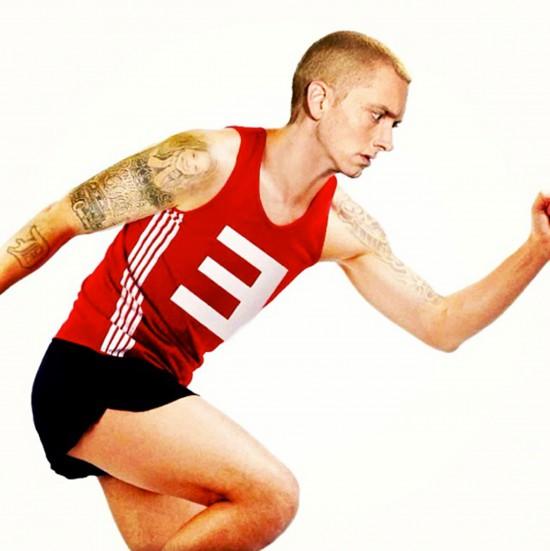 Eminem бежит бег бегает бегать