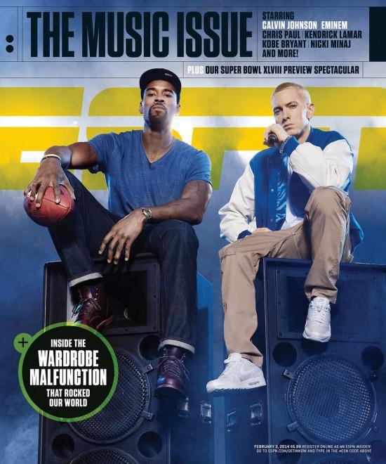 2013.01.22 - Eminem ESPN Cover 2014