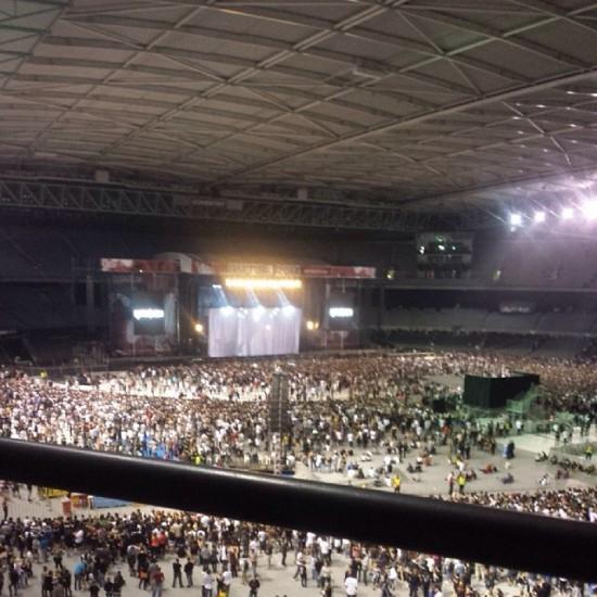 2014.02.19 - 16 Rapture 2014 Eminem Австралия Мельбурн. Подготовка сцены для Эминема
