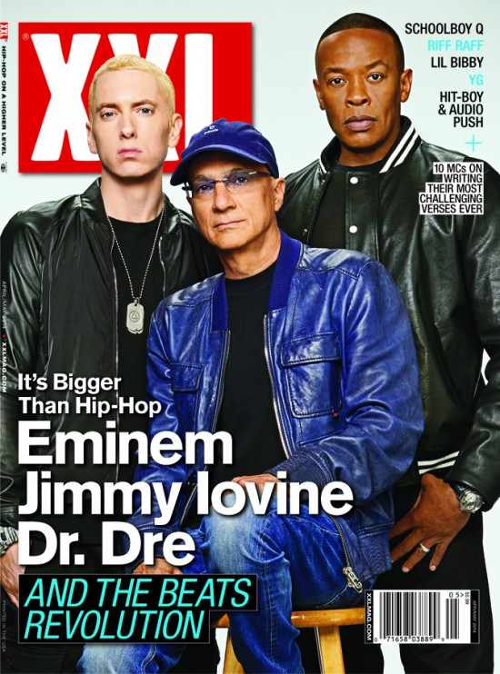 2014.02.19 Eminem, Dr. Dre & Jimmy Iovine Cover XXL April May Issue