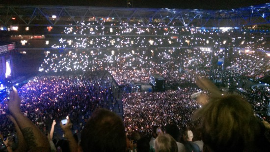 Brisbane Australia, Rapture 2014 Suncorp Stadium - Eminem's Brisbane Sky full of lighters…