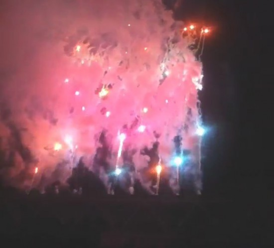 Brisbane Australia, Rapture 2014 Suncorp Stadium - Fireworks at Eminem!
