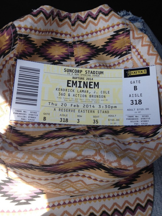 2014.02.20 - 65 Eminem Brisbane Australia, Rapture 2014 Suncorp Stadium
