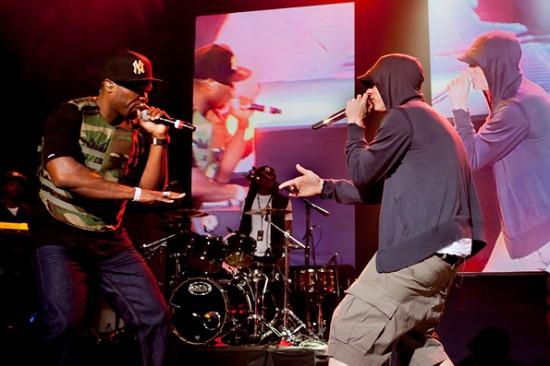 Jeremy Deputat 2012.03 - 50 Cent & Eminem doing soundcheck at SXSW 3
