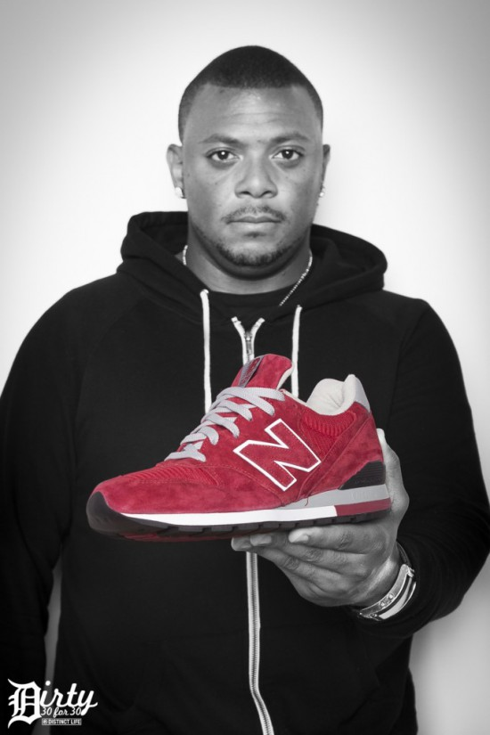 Jeremy Deputat 2012.06.14 - Day 14. Distinct Life Dirty 30 for 30 series. Denaun aka Mr. Porter previews the cardinal red suede New Balance 996. These drop in August 2012