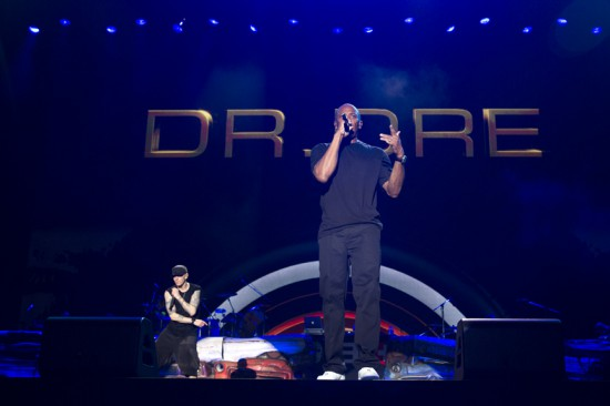 "Jeremy Deputat 2012.08.17 - Eminem brought out Dre in Tokyo last night for a quick performance of ""Forget About Dre"" and ""The Next Episode."