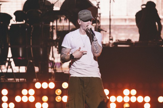 Jeremy Deputat 2013.08.09 - Eminem went hard at G-Shock's 30th anniversary Shock the World in New York City the other night.