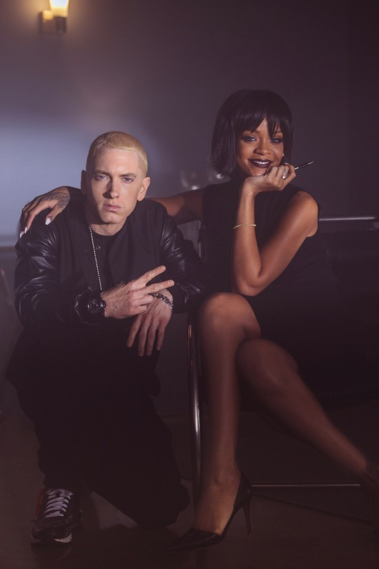Jeremy Deputat 2013.11.21 - I captured this photo of Eminem & Rihanna on the set of The Monster the other day in Detroit