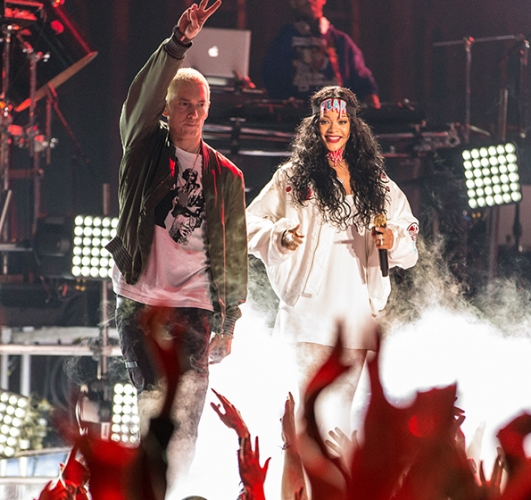 Eminem and Rihanna MTV Movie Awards 2014