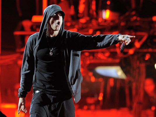 Eminem at the 2012 Coachella festival in Indio, Calif. (Photo: Chris Pizzello, AP)