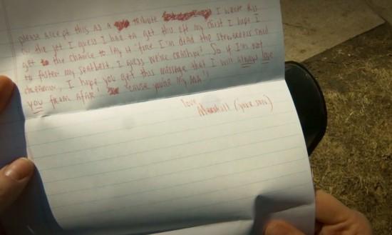 2014.05.11 - Eminem's Headlights Video letter