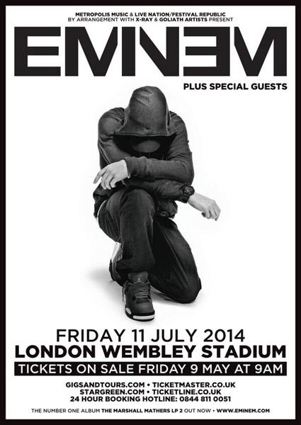 Eminem анонсировал выступление в Лондоне