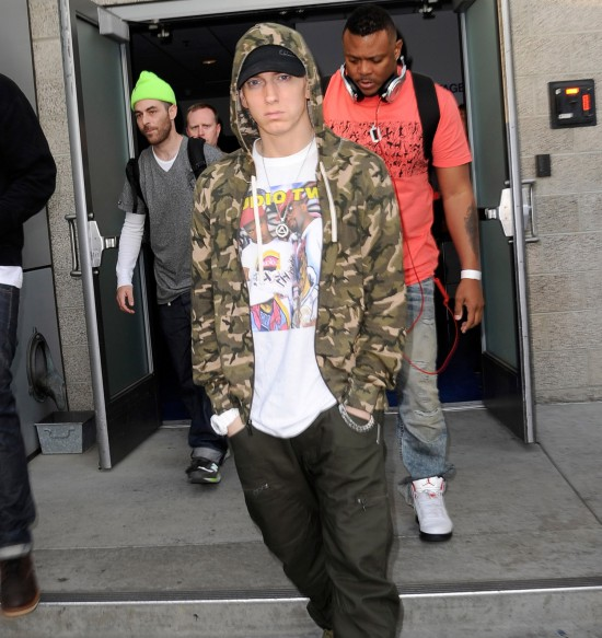 Eminem, Mr. Porter, The Alchemist at MTV Movie Awards, Los-Angeles April 12, 2014