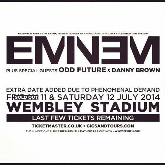 2014.06.13 - Eminem and Danny Brown live at London Wembley Stadium 2014