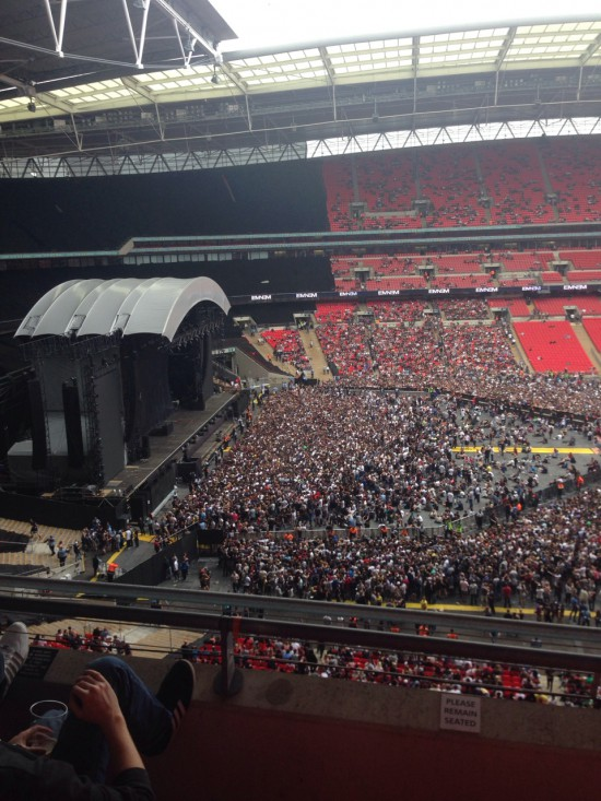 Eminem performing at Wembley Stadium | 11.July.2014