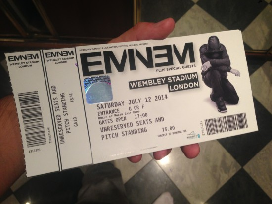 Eminem Wembley Stadium 12.07.2014 London