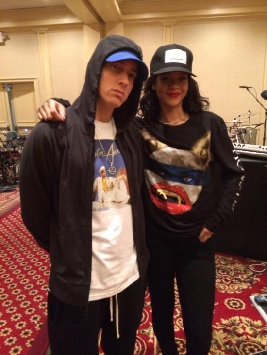 2014.07.30 - Eminem и Rihanna на репетиции The Monster Tour