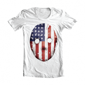 Eminem HOCKEY_MASK_SHIRT-02 Emdependence Day T-Shirt (White)