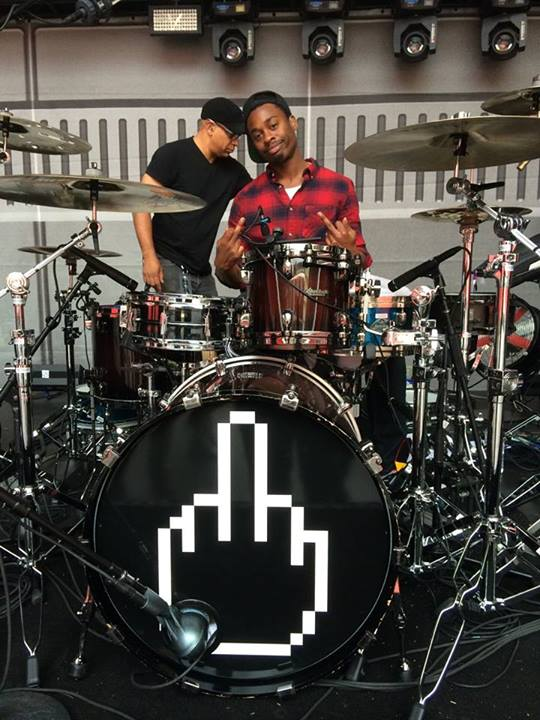 Eminem We got Devin a new drum head! Get the 'Country Club Rejects' polo featuring the 8-Bit Middle Finger here before they're gone for good