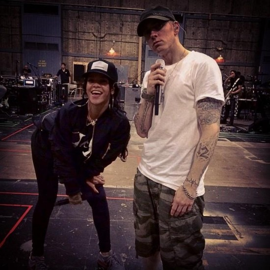 2014.08.06 - Eminem - Final rehearsals for tour with Rihanna ..see you soon in Pasadena
