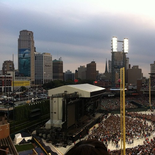 Eminem Comerica Park Detroit The Monster Tour 22 августа 2014