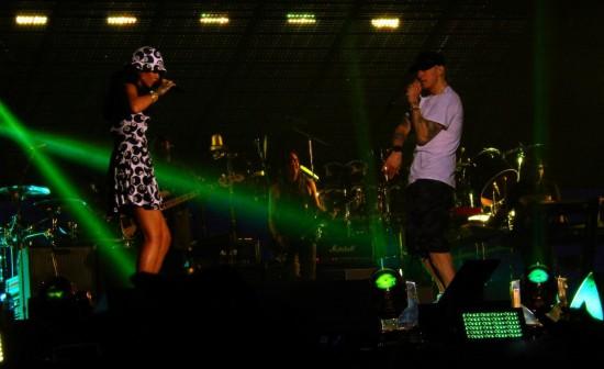 Eminem и Rihanna - The Monster Tour (Pasadena, Rose-Bowl) 08.08.2014
