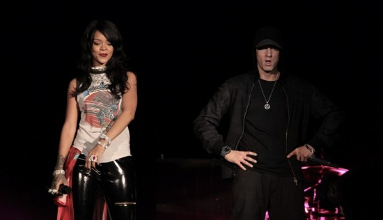 Eminem и Rihanna на The Monster Tour (Rose Bowl 7 августа 2014)
