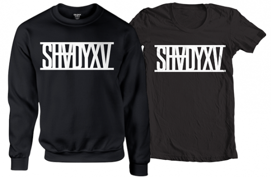 ShadyXV Limited Edition Black Crewneck Sweatshirt and T-Shirt