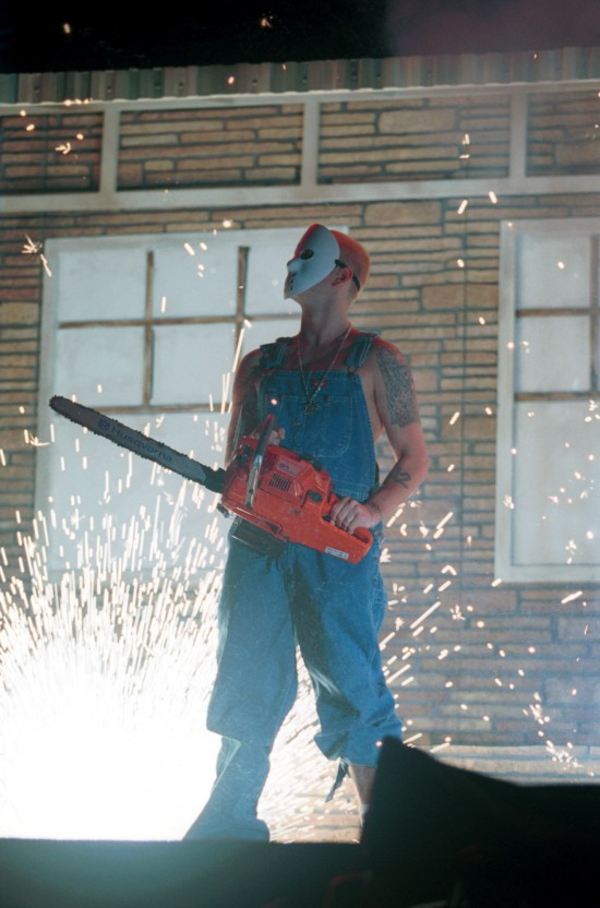 Eminem A Chainsaw And Jason Mask
