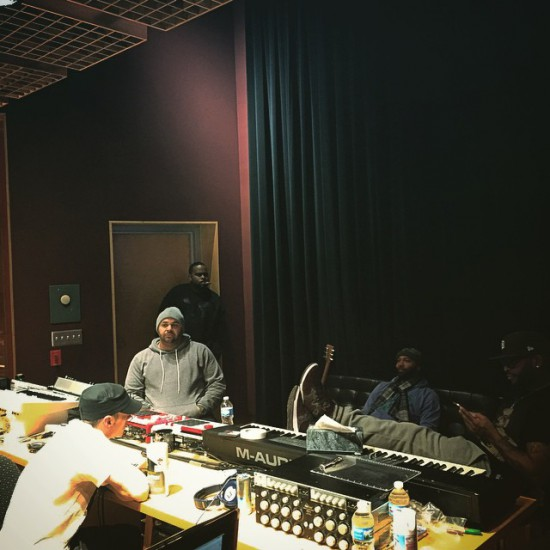 2015.02.06 - Eminem Glass House sessions with Slaughterhouse